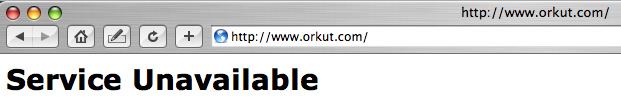 Orkut Web Site Down Screen Shot