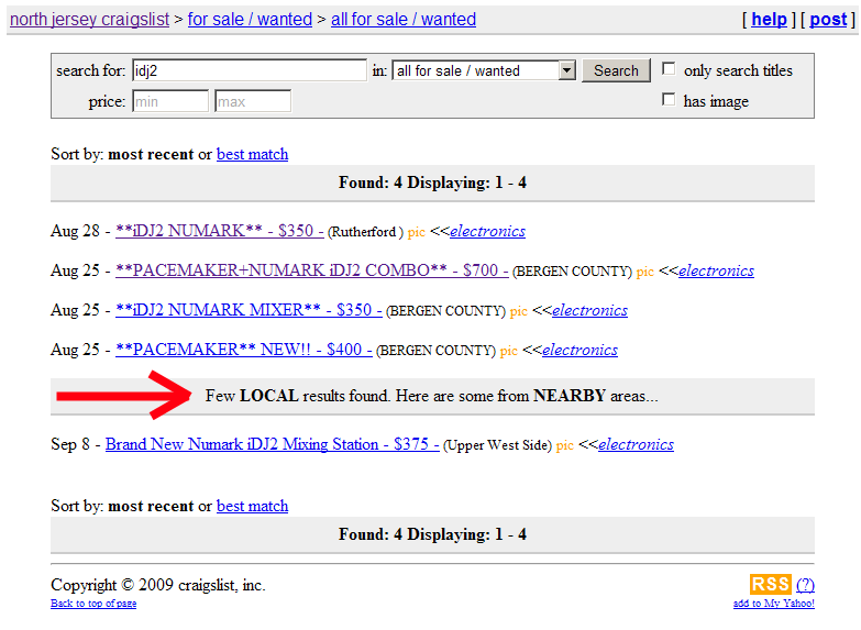 Finally, Craigslist Searches Include Nearby Areas