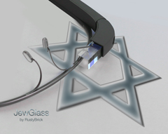 JewGlass Jewish Star on Google Glass