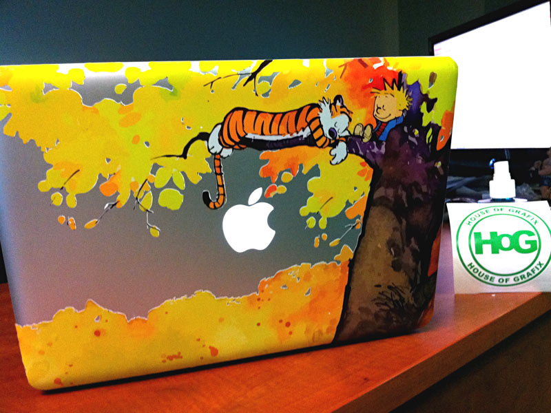 Calvin and hobbes custom macbook decals from house of grafix