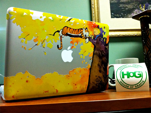 Calvin And Hobbes Custom MacBook Decals From House Of Grafix - Custom vinyl decals macbook