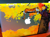 Calvin and Hobbes Macbook Decal