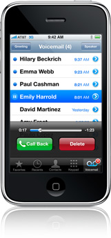 Visual Voicemail on the iPhone 4