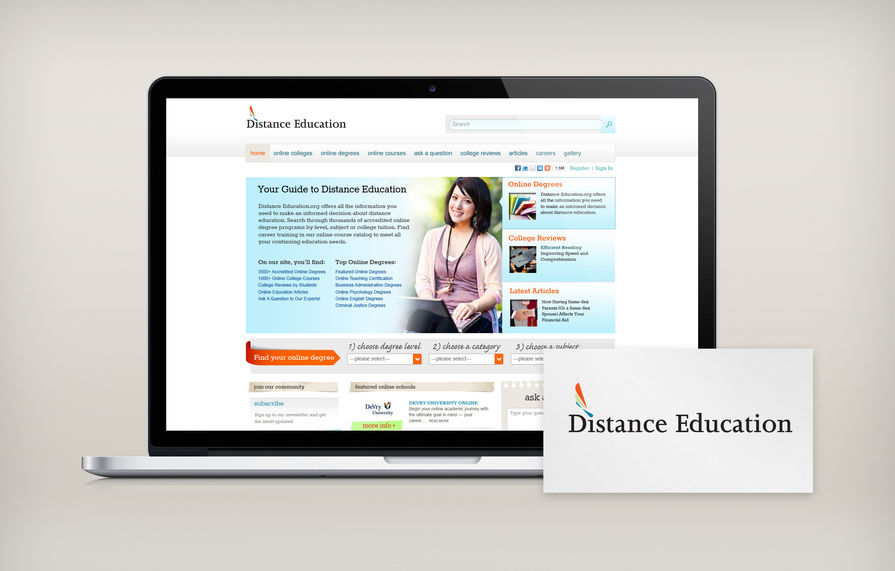 Distance Education Branding Main Portfolio Image