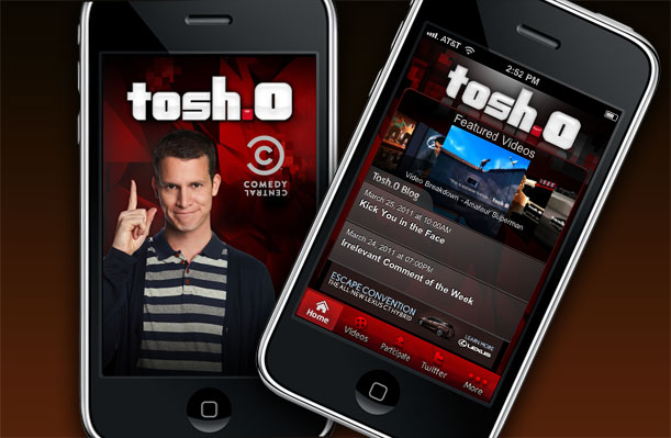Tosh.0 iPhone App Main Portfolio Image