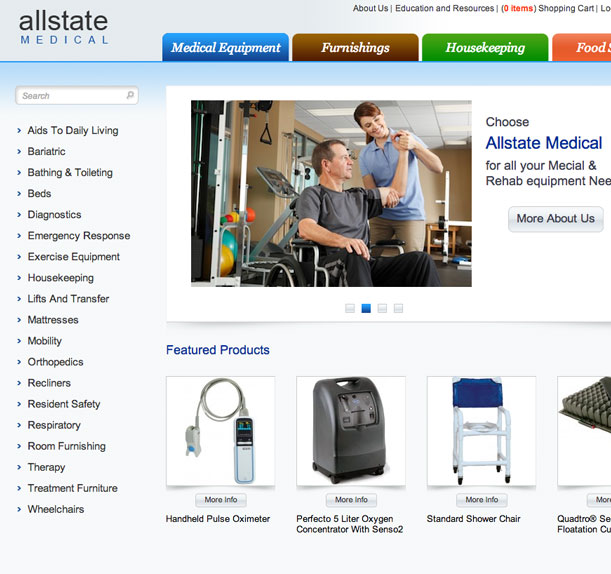 Allstate Medical Main Portfolio Image