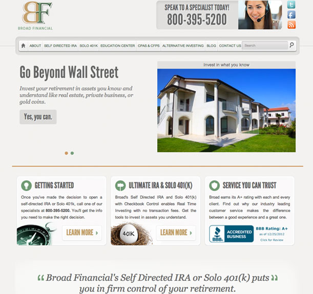 Broad Financial Main Portfolio Image